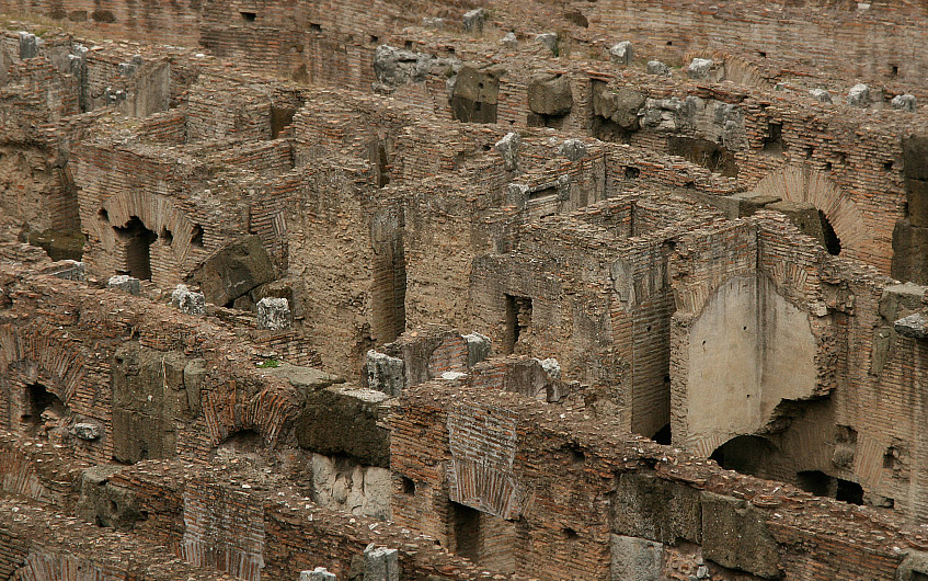Die Katakomben des Kolosseums