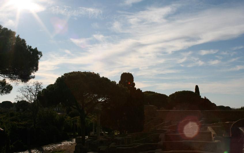 Ostia Antica und bestes Wetter