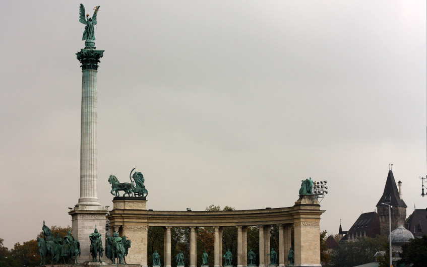 Der Heldenplatz.