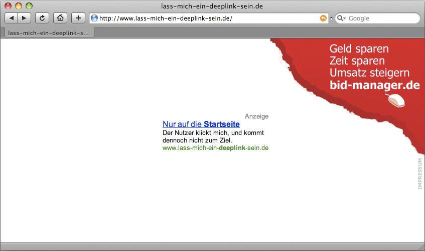 Kampagnenseite lass-mich-ein-deeplink-sein.de