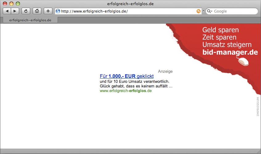 Kampagnenseite erfolgreich-erfolglos.de