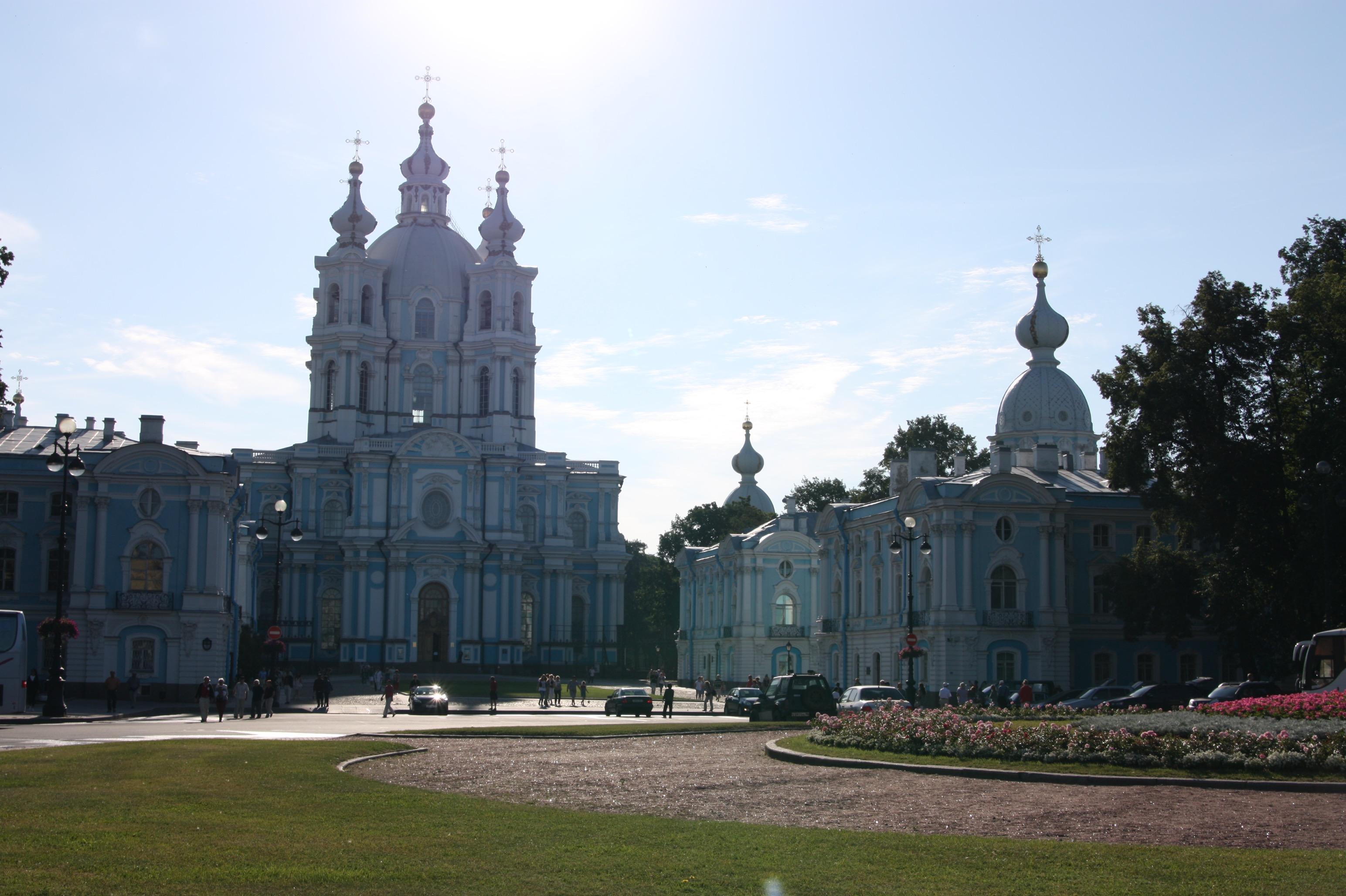 Das Smolny-Institut in St. Petersburg. Ursprünglich als Kloster geplant, aber nie als solches benutzt worden.