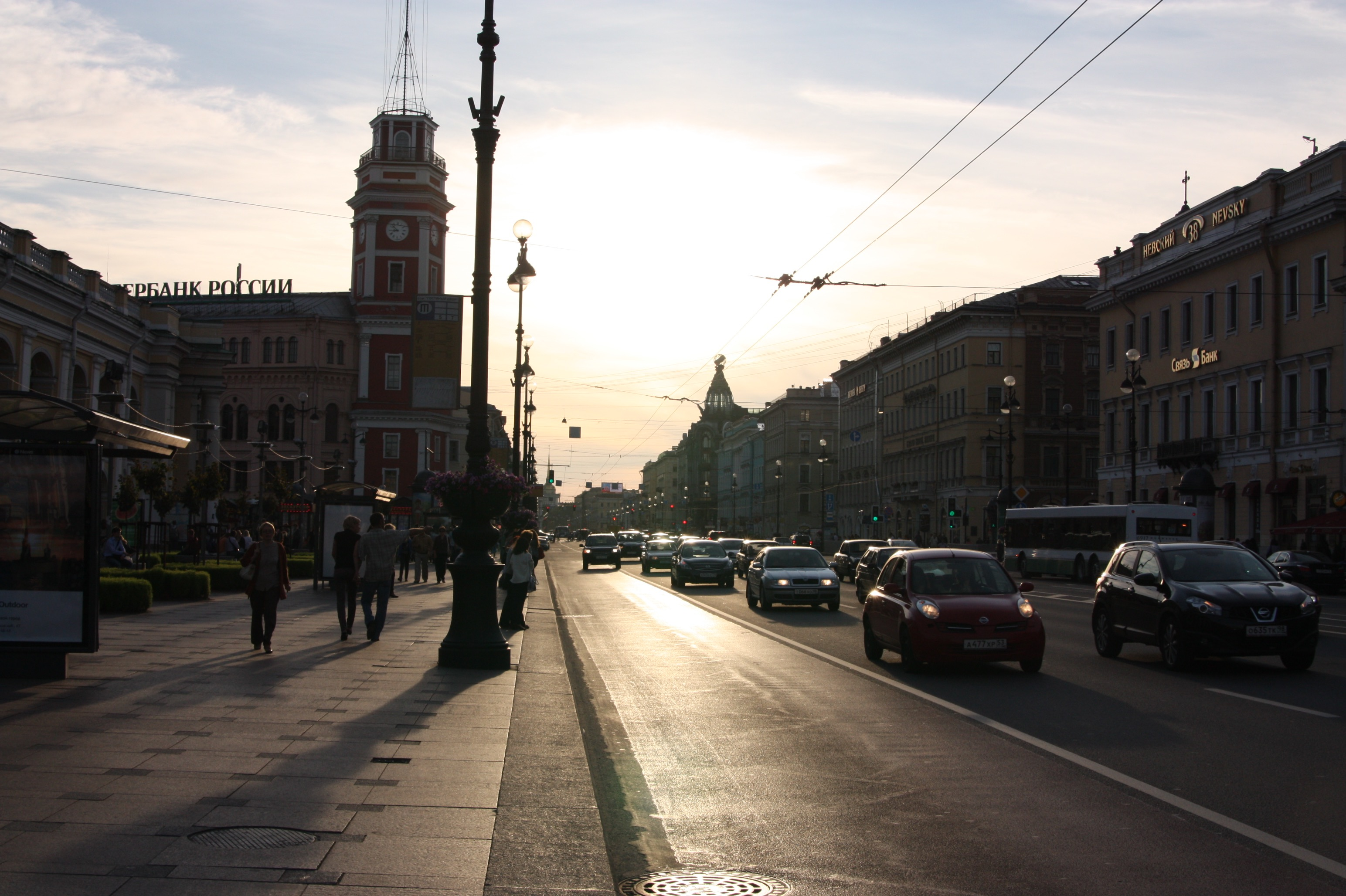 Sonnenuntergang in St. Petersburg.