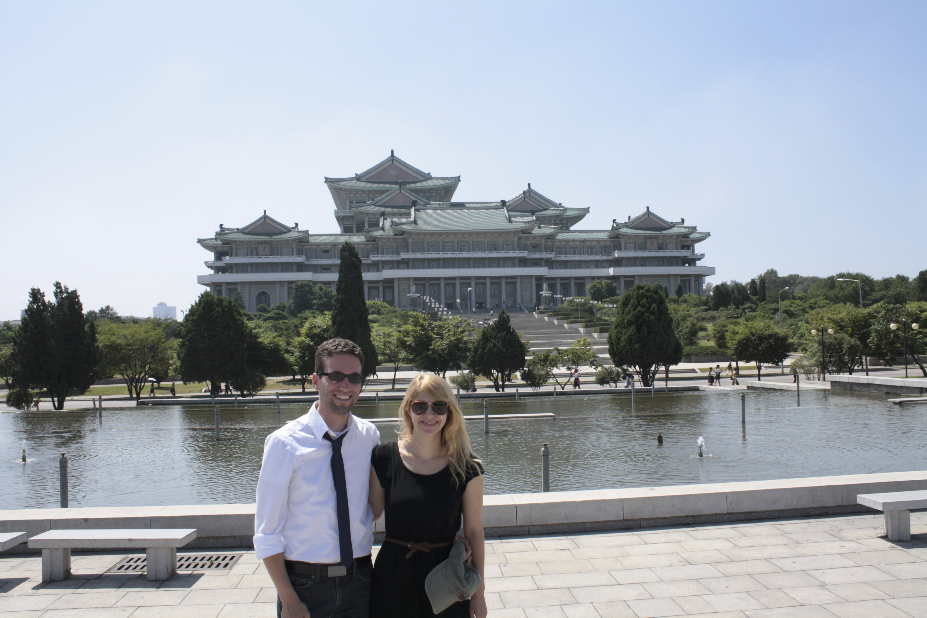 Dominik and Laura in North Korea.