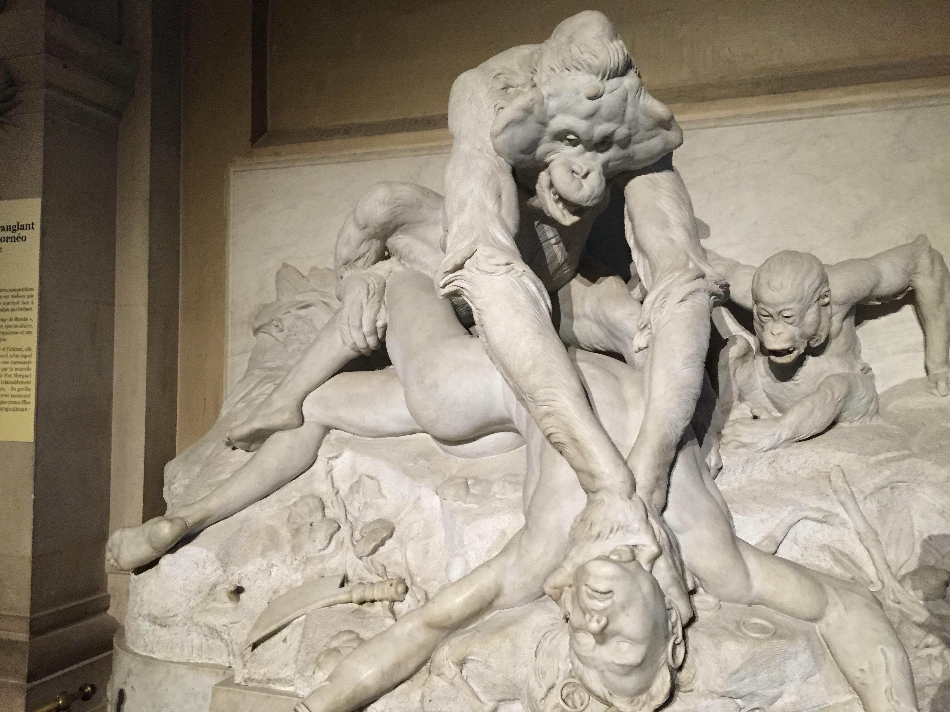 Dramatisches im Foyer der Galerie de Paléontologie et d'Anatomie Comparée.