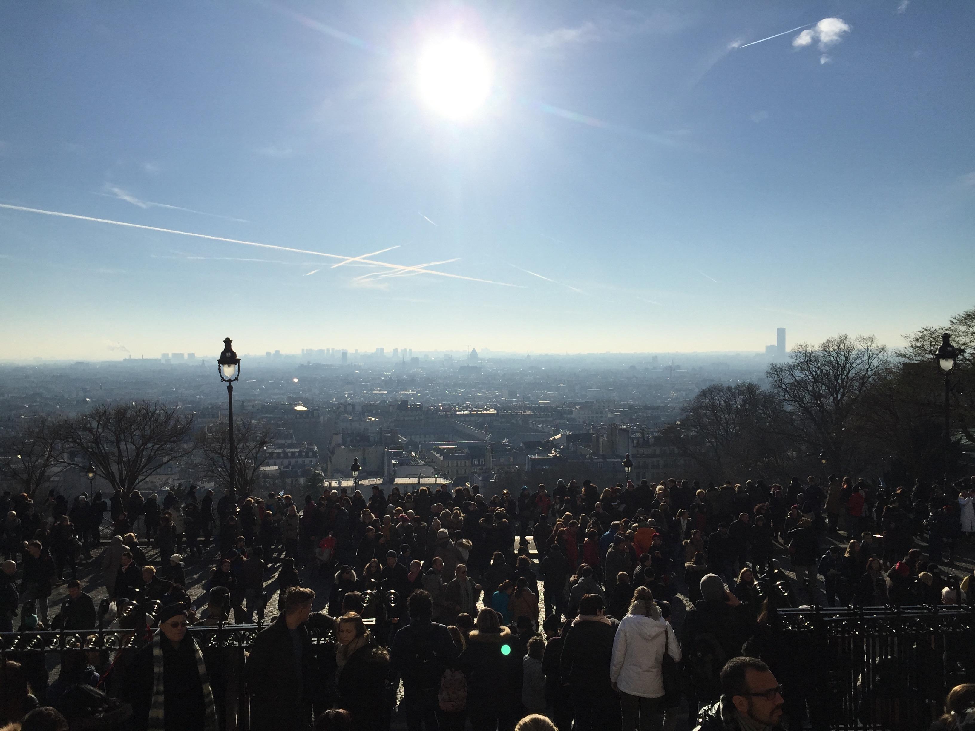 Blick von Sacre Coeur am Neujahrsmorgen.