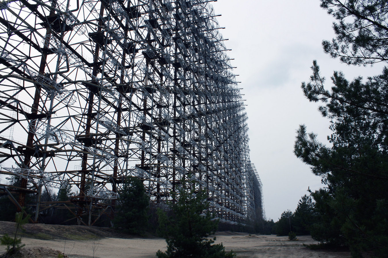 The gigantic Sovjet radar system Duga-3.