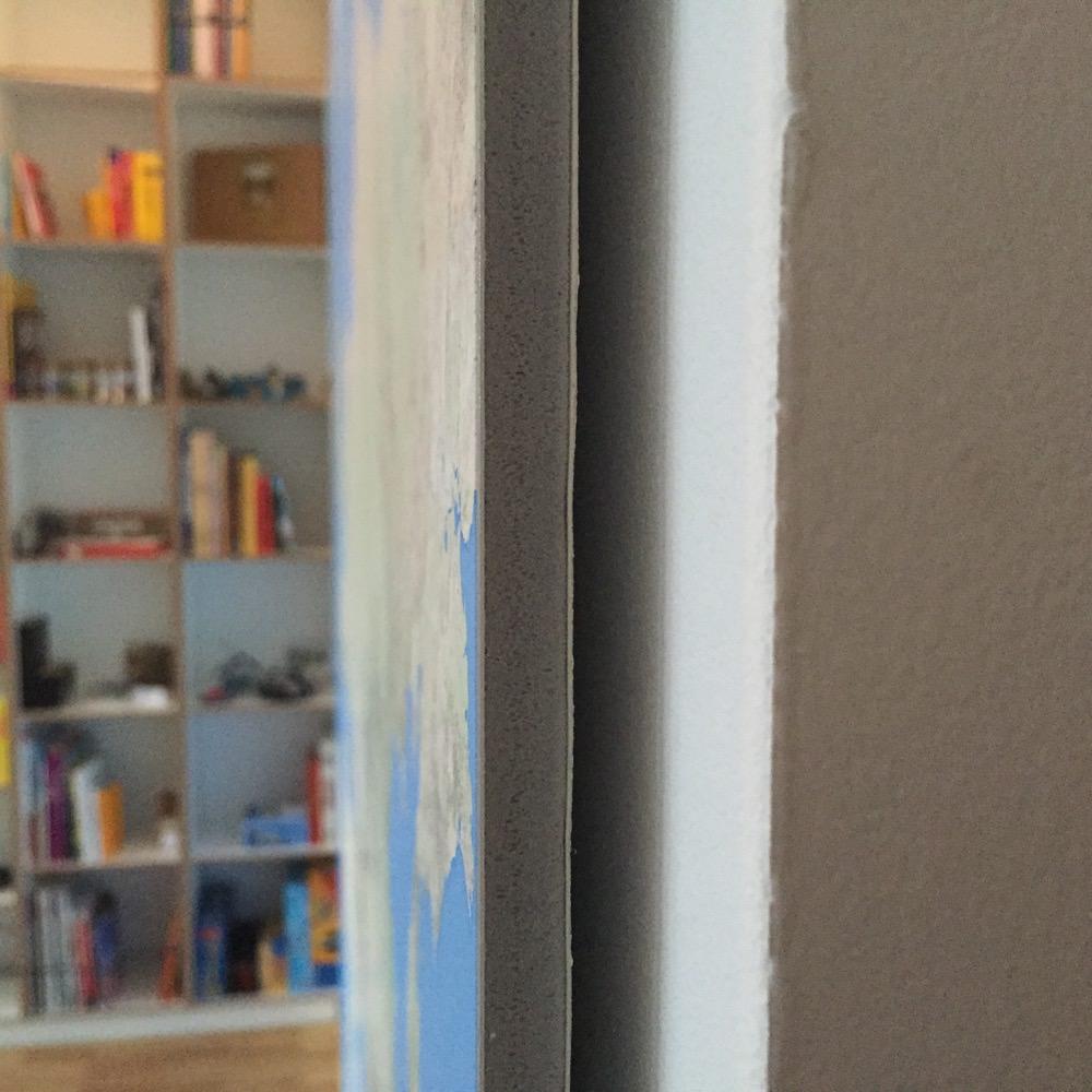 KAPA: ink - paper - cardboard - foam - cardboard - wall (l to r)