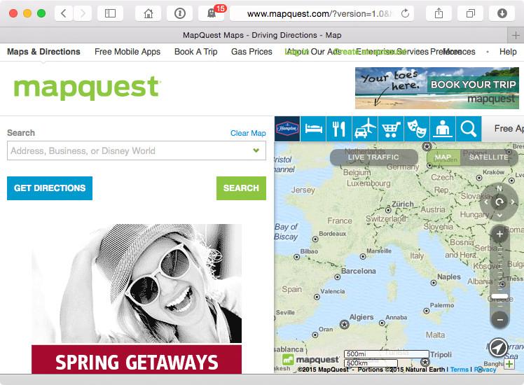 Source: screenshot from http://www.mapquest.com/