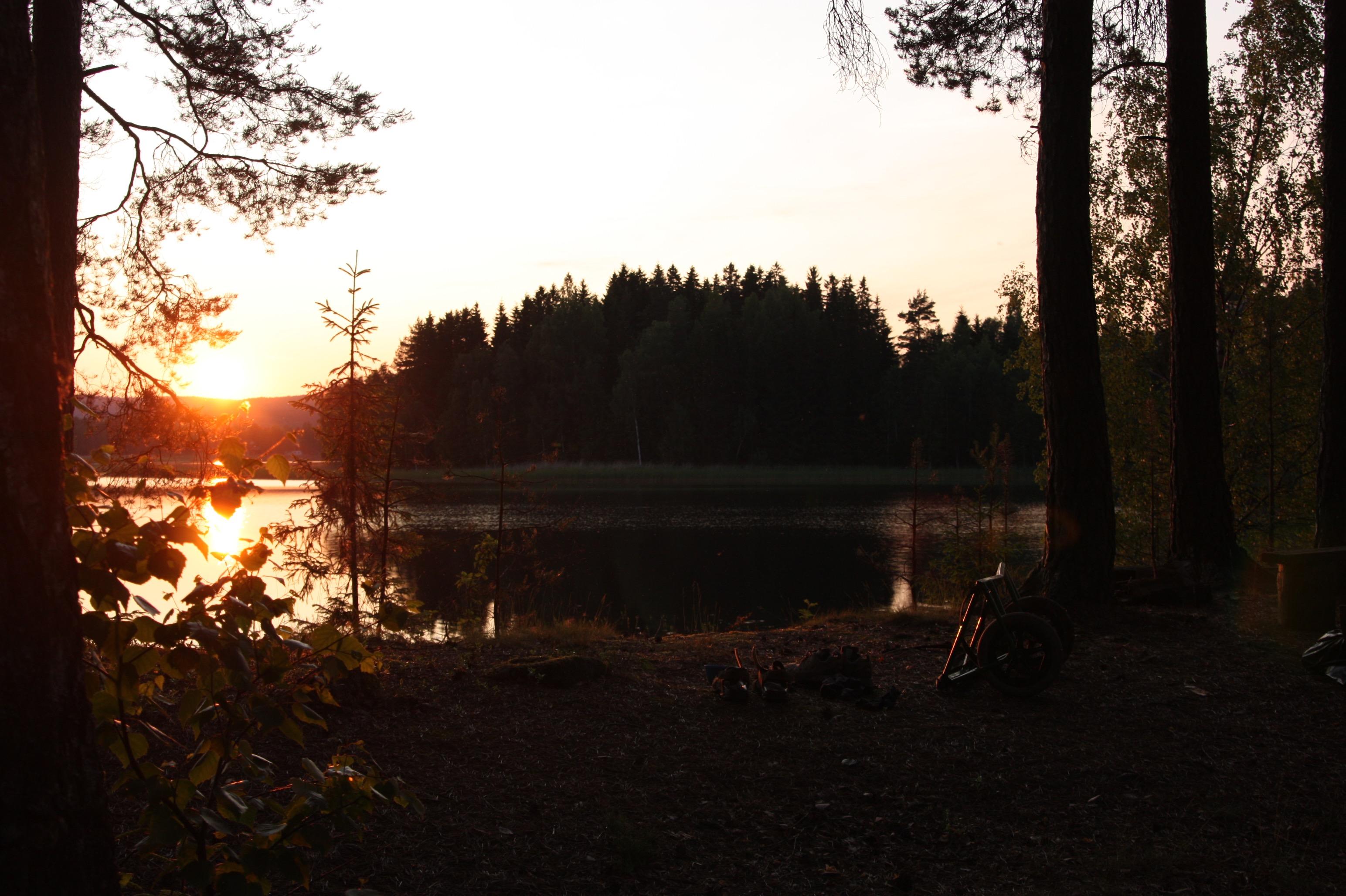 Sonnenuntergang im Schwedischen Nirgendwo.