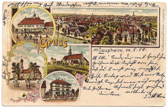 Laupheimer Ansichtskarte im Detail